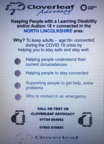 """ Keeping People Connected""  - Cloverleaf Advocacy"